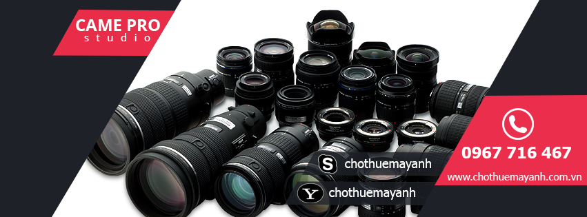 Cho thuê máy ảnh, Thuê lens, thuê máy quay